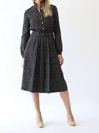 vanessa seward eglantine dress black dot mille
