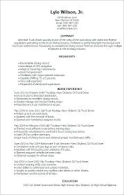 School Bus Driver Resume Sample Truck Examples Of Resumes For Drivers No Experience
