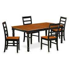 East West Furniture DOPF5-BCH-W 5 PC Kitchen Tables And Chair Set With One  Dover Dining Table And 4 Kitchen Chairs In A Black And Cherry Finish, Wood  ... 78 Sutton Vintage White Cherry Ding Table Set Cherrywood Solid Ding Table And 8 Chairs Room Chairs By Bob Timberlake For Lexington Addison Black Round Collection From Coaster Fniture 36 X 48 Solid Wood Opens To 60 Finish Benze Satinovo Glasslight Wood In Stow On The Wold Gloucestershire Gumtree 5pieces Cherry Wood Finish Faux Leather Counter Height Set 6 Amish Heirloom Dingroom Tables Sets 2 Armchairs Side 1 Bench Custom Made Homesullivan Holmes 5piece Rich Christy Shown Grey Elm Brown Maple With A Twotone Michaels Onyx Includes 18 Leaf 49 And