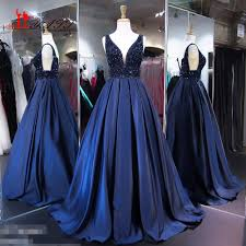 online get cheap navy blue ball gown aliexpress com alibaba group