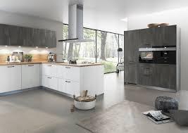 bauformat l küche lack weiß wandschrank in schiefer grau