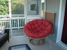 Papasan Chair Cushion Cover by Furniture Nice Outdoor Papasan Chair With Red Cushion Cover On