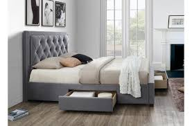 chaise drawer woodbury grey fabric drawer bed king size