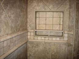 wall niche shower shelf made of ceramic in brown decofurnish