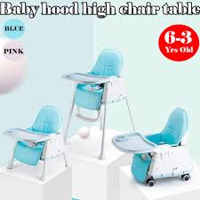 Baby Hood High Chair Table Baby Feeding Seat 3in1 Baby Seat With Roller  Back Pad