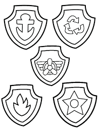 Paw Patrol Coloring Sheets Badges Of Pages Ryder