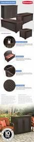 Suncast 50 Gallon Deck Boxstorage Bench by Rubbermaid 93 Gal Chic Basket Weave Patio Storage Bench Deck Box