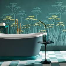 schöner wohnen badezimmer tapeten fürs bad