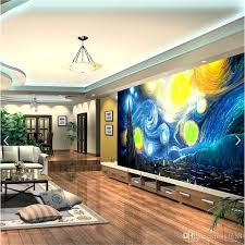 großhandel benutzerdefinierte 3d fototapete gogh starry himmel ölgemälde wohnzimmer schlafzimmer sofa tv hintergrund wandbild tapeten