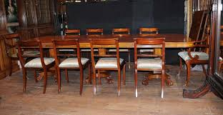 Absolutely Stunning Dining Set With 12 Regency Style Chairs And Matching Table In Mahogany