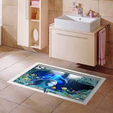 3d anti skid stickers waterproof bathmats kitchen home creative