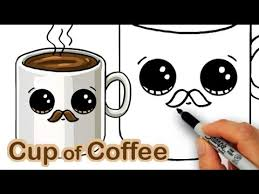 HOW TO DRAW A COFFEE CUTE Easy Step By Drawing Lessons For