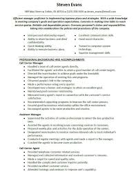 Call Center Supervisor Resume Sample Perfect Format