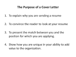 What Is The Purpose A Cover Letter World Letter Format