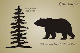 STENCIL Rustic Mountain Lodge Pine Tree Bear Wilderness Cabin Decor Sign U Paint In Crafts Home Arts Decorative Tole Painting Stencils