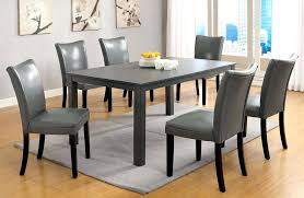 Gray Dining Chairs Alluring Room Table Creamy White Rustic Mahogany Living Sets