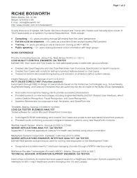 Sample Resume Of Software Engineer For Experienced Doc