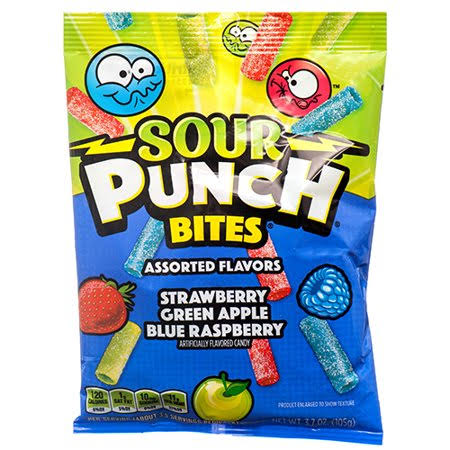 Sour Punch Bites Candy, Assorted Flavors - 3.7 oz