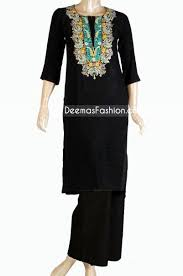Buy Pakistani Clothes Simple Black Casual Wear