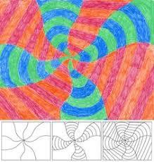 Op Art In Swirl Form