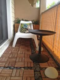 Furniture Ikea Patio Flooring Splendid Re Designed My Balcony For 200