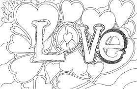 Printable Coloring Pages For Adults Love