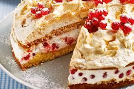 johannisbeer torte mit ingwerbaiser