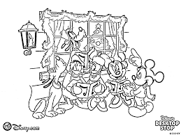 Coloring Pages Disney Christmas Cartoon Xmas