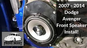 2007 - 2014 Dodge Avenger Front Door Speaker Install - YouTube