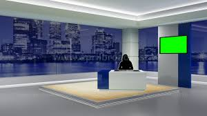 2D 3D Green Screen Background Best Suited For A Variety News Based