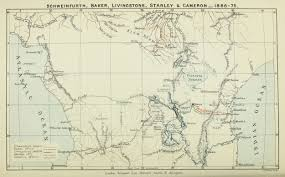 Schweinfurth Baker Livingstone Stanley Cameron 1866 1875 Map From