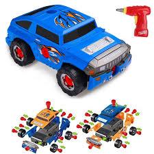 Car Take Apart Desmontables Coche De 36 Piezas Para Niños Vehículo Todoterrenocon Taladro Eléctrico4 Tipos De CombinacionesJuguetes Niños Del