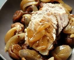 rôti de veau aux marrons et échalotes recette de rôti de veau
