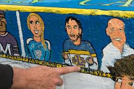 Big Ang Mural Unveiling by What Ties Doug Woog Herb Brooks And Paris Hilton They U0027re On This