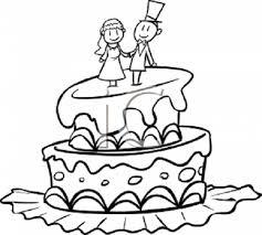 Wedding Cake clipart drawn 3