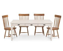 Magnolia Home 5 Pc Farmhouse Dining Room Set With 6 White Table