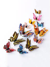 Butterfly Wall Decor Target by Colorful 12 Pcs 3d Diy Noctilucence Butterfly Wall Sticker
