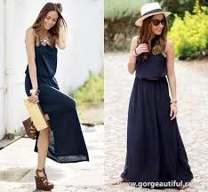 Dark Navy Summer Maxi Dress