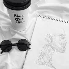Alternative Art Black And White Coffee Drawing Grunge