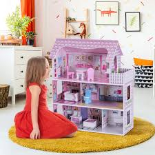Wooden DIY Threedimensional Jigsaw Puzzle Dollhouse Set Furniture