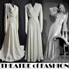 vintage 30s silk wedding dress ballgown satin 20s paris goddess