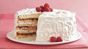 Raspberry Laced Vanilla Cake