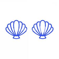 100 Sea Shell Design Blue Mermaid Bra Outline Mermaid Top T Shirt Scallop