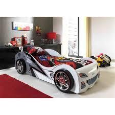 chambre voiture garcon lit voiture enfant 90x200 cm blanc achat vente structure