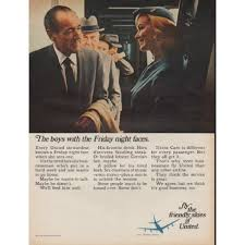1967 United Airlines Ad The Boys With Friday Night Faces