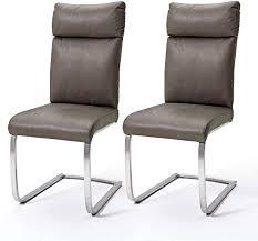 robas lund esszimmerstühle 2er set braun schwingstuhl esszimmerstuhl max 130 kg belastbar stuhl rabea