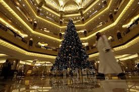 Abu Dhabi Hotel Unveils 11m Christmas Tree