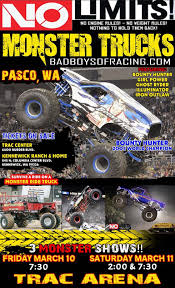 Yuge Monster Truck Weekend @ TRAC In Pasco! Monster Truck Showwheelies X2 By Kageyuurei On Deviantart Amta Shows Near Me Jam Show Tips For Attending With Kids What To Do In Vancouver For Fans Bestwtrucksnet Stock Photos Images Sudden Impact Racing Suddenimpactcom Triple Threat Series Is Headed Portland With 4 New Saratoga Speedway Review Rally Discount Tickets Utah Deal Diva Trucks Show Power Pahrump Valley Times Ottawa Car Quinte