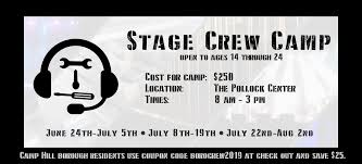Stage Crew Camp | The Pollock Center