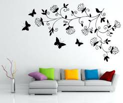 Abstract Dark Tree Butterfly Wall Stickers Decals Art For Easy Painting Designs Small